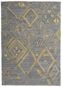 Kelim Ariana Teppe 200X284 Ekte Moderne Håndvevd Lys Blå/Mørk Grå/Lys Grå (Ull, Afghanistan)