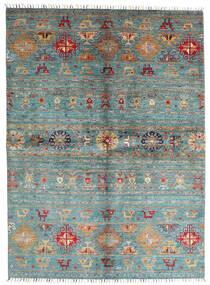 Shabargan Teppe 172X235 Ekte Moderne Håndknyttet Blå/Mørk Grønn (Ull, Afghanistan)
