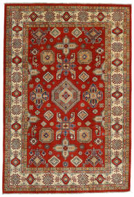 Kazak Teppe 198X292 Ekte Orientalsk Håndknyttet Mørk Rød/Olivengrønn (Ull, Afghanistan)