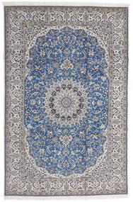 Nain 9La Teppe 208X316 Ekte Orientalsk Håndknyttet Lys Grå/Blå (Ull/Silke, Persia/Iran)