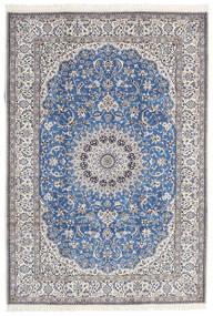 Nain 9La Teppe 216X312 Ekte Orientalsk Håndknyttet Blå/Mørk Grå (Ull/Silke, Persia/Iran)