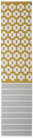 Siri - Mustard Teppe 70X300 Moderne Teppeløpere Lys Grå/Olivengrønn ( Sverige )