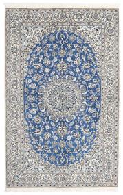 Nain 9La Teppe 160X251 Ekte Orientalsk Håndknyttet Lys Grå/Hvit/Creme (Ull/Silke, Persia/Iran)