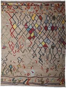 Kelim Moderne Teppe 297X391 Ekte Moderne Håndvevd Lys Grå/Lysbrun Stort (Ull, Afghanistan)