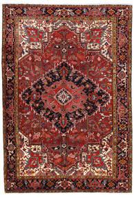 Heriz Teppe 227X330 Ekte Orientalsk Håndknyttet Mørk Rød/Rust (Ull, Persia/Iran)