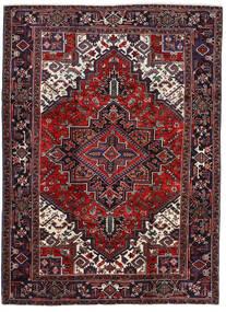 Heriz Teppe 202X276 Ekte Orientalsk Håndknyttet Mørk Rød/Mørk Brun (Ull, Persia/Iran)