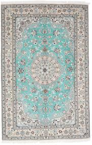 Nain 9La Teppe 157X244 Ekte Orientalsk Håndknyttet Lys Grå/Hvit/Creme (Ull/Silke, Persia/Iran)