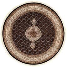 Tabriz Royal Teppe Ø 151 Ekte Orientalsk Håndknyttet Rundt Mørk Rød/Brun ( India)