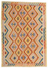 Kelim Afghan Old Style Teppe 176X252 Ekte Orientalsk Håndvevd Mørk Beige/Lyserosa (Ull, Afghanistan)