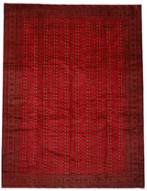 Turkaman Teppe 300X385 Ekte Orientalsk Håndknyttet Mørk Rød/Rød Stort (Ull, Persia/Iran)