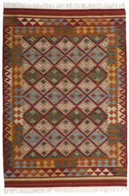Kelim Adana Teppe 160X230 Ekte Moderne Håndvevd Mørk Rød/Mørk Grå (Ull, India)