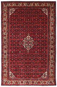 Hosseinabad Teppe 215X335 Ekte Orientalsk Håndknyttet Mørk Rød/Svart (Ull, Persia/Iran)