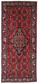 Hamadan Teppe 82X186 Ekte Orientalsk Håndknyttet Teppeløpere Svart/Mørk Rød (Ull, Persia/Iran)
