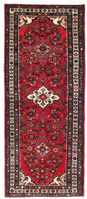Hamadan Teppe 78X200 Ekte Orientalsk Håndknyttet Teppeløpere Svart/Rød (Ull, Persia/Iran)