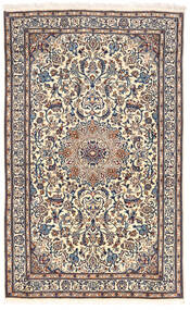 Nain Teppe 155X255 Ekte Orientalsk Håndknyttet Lys Grå/Mørk Grå (Ull, Persia/Iran)