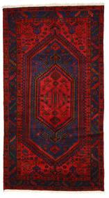 Zanjan Teppe 140X253 Ekte Orientalsk Håndknyttet Svart/Rust (Ull, Persia/Iran)