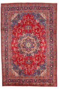 Mashad Teppe 198X294 Ekte Orientalsk Håndknyttet Mørk Rød/Rød (Ull, Persia/Iran)