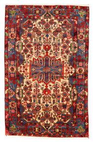 Nahavand Old Teppe 158X253 Ekte Orientalsk Håndknyttet Mørk Rød/Mørk Brun (Ull, Persia/Iran)