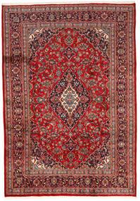 Keshan Teppe 200X287 Ekte Orientalsk Håndknyttet Mørk Rød/Mørk Brun (Ull, Persia/Iran)