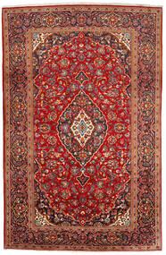 Keshan Teppe 200X309 Ekte Orientalsk Håndknyttet Mørk Rød/Rust (Ull, Persia/Iran)