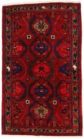 Hamadan Teppe 136X224 Ekte Orientalsk Håndknyttet Mørk Rød/Rød (Ull, Persia/Iran)