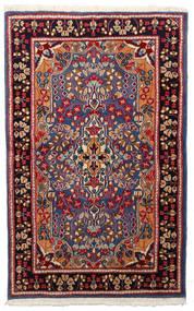 Kerman Teppe 91X148 Ekte Orientalsk Håndknyttet Mørk Rød/Svart (Ull, Persia/Iran)
