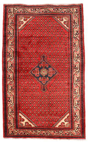 Hamadan Teppe 130X212 Ekte Orientalsk Håndknyttet Mørk Rød/Rust (Ull, Persia/Iran)