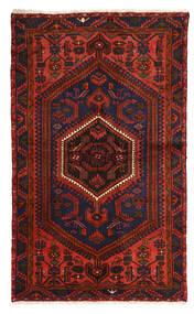 Zanjan Teppe 128X214 Ekte Orientalsk Håndknyttet Mørk Rød/Mørk Brun (Ull, Persia/Iran)
