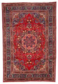 Mashad Teppe 199X297 Ekte Orientalsk Håndknyttet Mørk Rød/Mørk Brun (Ull, Persia/Iran)