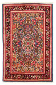 Kerman Teppe 117X184 Ekte Orientalsk Håndknyttet Rust/Hvit/Creme (Ull, Persia/Iran)