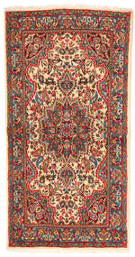 Kerman Teppe 113X219 Ekte Orientalsk Håndknyttet Mørk Brun/Rust (Ull, Persia/Iran)