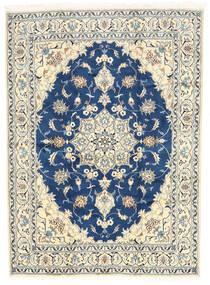 Nain Teppe 168X230 Ekte Orientalsk Håndknyttet Beige/Mørk Blå (Ull, Persia/Iran)