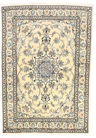 Nain Teppe 165X239 Ekte Orientalsk Håndknyttet Beige/Mørk Grå (Ull, Persia/Iran)