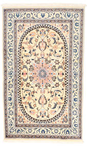 Nain Teppe 150X250 Ekte Orientalsk Håndknyttet Beige/Lys Grå (Ull, Persia/Iran)