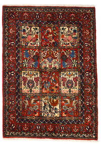 Bakhtiar Collectible Teppe 106X150 Ekte Orientalsk Håndknyttet Mørk Brun/Mørk Rød (Ull, Persia/Iran)
