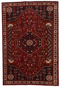 Shiraz Teppe 202X300 Ekte Orientalsk Håndknyttet Mørk Rød/Rød (Ull, Persia/Iran)