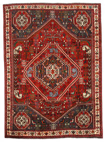 Shiraz Teppe 198X274 Ekte Orientalsk Håndknyttet Mørk Brun/Mørk Rød (Ull, Persia/Iran)