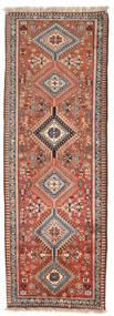 Yalameh Teppe 75X260 Ekte Orientalsk Håndknyttet Teppeløpere Mørk Rød/Lys Grå (Ull, Persia/Iran)