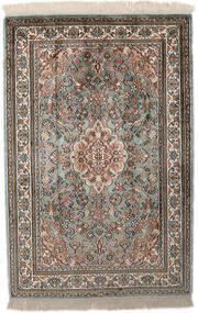 Kashmir Ren Silke Teppe 65X96 Ekte Orientalsk Håndknyttet Lys Grå/Mørk Grå (Silke, India)