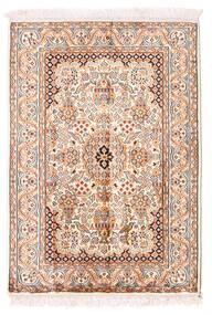 Kashmir Ren Silke Teppe 66X94 Ekte Orientalsk Håndknyttet Beige/Lyserosa (Silke, India)
