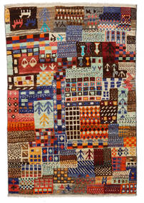 Moroccan Berber - Afghanistan Teppe 115X171 Ekte Moderne Håndknyttet Mørk Rød/Lys Grå (Ull, Afghanistan)