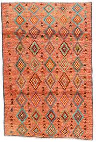 Moroccan Berber - Afghanistan Teppe 121X182 Ekte Moderne Håndknyttet Orange/Rød/Lysbrun (Ull, Afghanistan)