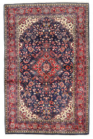 Hamadan Teppe 134X207 Ekte Orientalsk Håndknyttet Mørk Lilla/Brun (Ull, Persia/Iran)