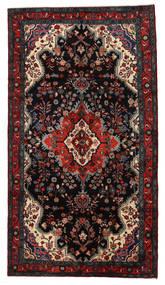 Lillian Teppe 160X288 Ekte Orientalsk Håndknyttet Svart/Mørk Rød (Ull, Persia/Iran)