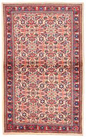 Sarough Teppe 97X155 Ekte Orientalsk Håndknyttet Rosa/Beige (Ull, Persia/Iran)