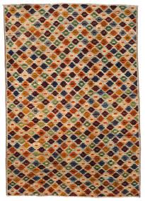 Moroccan Berber - Afghanistan Teppe 200X289 Ekte Moderne Håndknyttet Brun/Mørk Brun (Ull, Afghanistan)