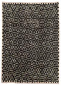 Moroccan Berber - Afghanistan Teppe 202X286 Ekte Moderne Håndknyttet Mørk Grå/Lys Grå (Ull, Afghanistan)