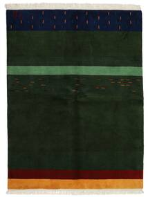 Gabbeh Indisk Teppe 172X226 Ekte Moderne Håndknyttet Mørk Grønn (Ull, India)