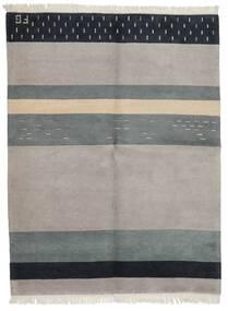 Gabbeh Indisk Teppe 173X227 Ekte Moderne Håndknyttet Lys Grå/Blå (Ull, India)