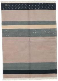 Gabbeh Indisk Teppe 172X235 Ekte Moderne Håndknyttet Lys Grå/Mørk Blå (Ull, India)
